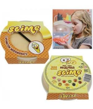 Слайм с ароматом мороженого 300гр с трубочкой S300-15