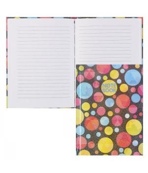 Книжка записная А6 (115*150) 48л тв обл 7Бц Цветные горошки гологр пленка 47127