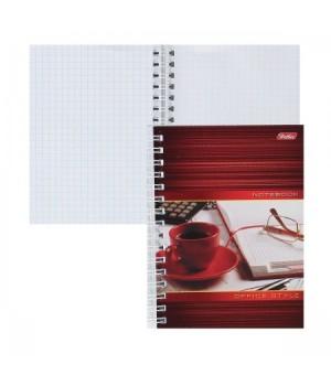 Книжка записная А6 (105*145) 80л дв спир обл мягк карт Офис 80ЗК6В1гр