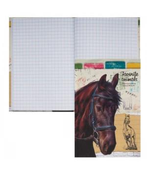 Книжка записная А6 (105*150) 64л тв обл 7Бц Лошадь в упряжке глянц лам тисн 64-4713