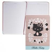 * Книжка записная А5 (135*190) 80л тв обл 7Бц Hello Kitty-24 лен 80-3793