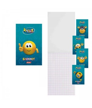 Блокнот А7 (65*100) 48л склейка обл мягк карт Веселые смайлики (Колобанга) глянц лам 48Б7В1к ассорти