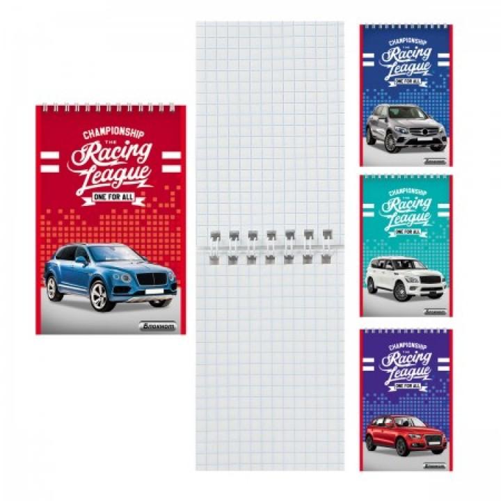 Блокнот А7 (65*100) 40л дв спир обл мягк карт Авто-1 Б40-7746