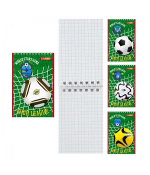 Блокнот А7 (65*100) 40л дв спир обл мягк карт Футбол Б40-7762