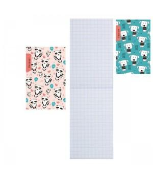 Блокнот А7 (62*100) 48л склейка обл мягк карт Животные узоры-1 Б48-6980