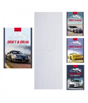 Блокнот А6 (100*140) 24л обл мягк карт Мощные авто и лошадь Б24-3268 ассорти 4 вида