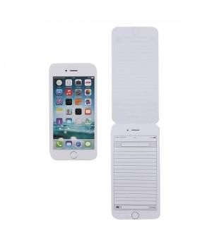 Блокнот А6 (67*137) 48л склейка обл мягк карт Телефон Белый глянц лам жест подлож 48Б6В5к_13997