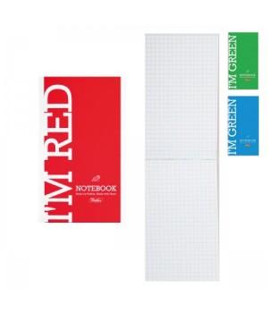 Блокнот А6 (85*148) 64л склейка обл мягк карт I am Colour глянц лам 64Б6В1к ассорти 3 вида