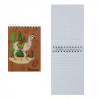 Блокнот А6 (105*140) 80л дв спир обл мягк карт Альпака глянц лам 50858