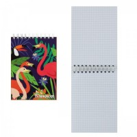 Блокнот А6 (105*140) 80л дв спир обл мягк карт Фламинго глянц лам 50864