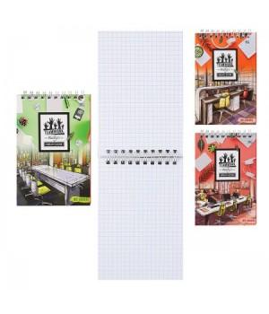 Блокнот А6 (100*145) 80л дв спир обл мягк карт Teamwork Б6гр80 6704 ассорти 4 вида