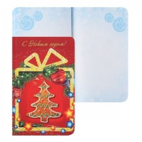 * Блокнот А6 (100*150) 96л склейка обл мягк карт С Новым годом (Подарок) Б96-0044