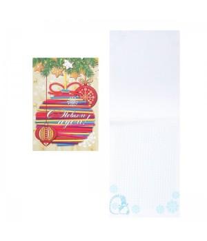 * Блокнот А5 (142*198) 40л склейка обл мягк карт Елочные украшения Б40-9007