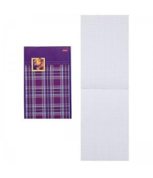 Блокнот А5 (155*205) 80л скоба обл мягк карт Шотландка выб лак 80Б5вмВ3_01641