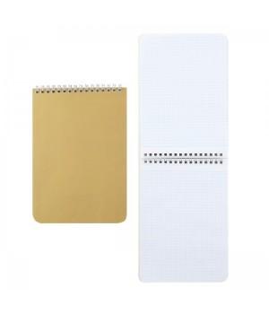 Блокнот А5 (145*205) 60л дв спир обл мягк карт Золото 60Б5В1гр_14376
