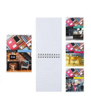 Блокнот А5 (148*200) 60л дв спир обл мягк карт Рабочее пространство Б5гр60 6692 ассорти 4 вида