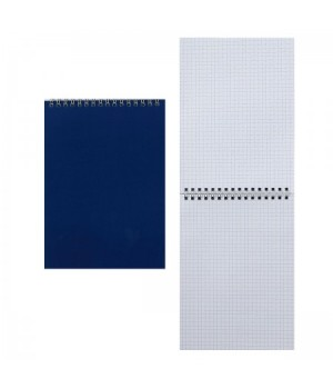 Блокнот А5 (145*200) 60л дв спир обл мягк карт Для конференций Б5гр60 1589 син