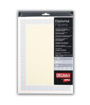 Бумага для сертификатов с водяными знаками А4 115гр 25л Спираль оранжево-синяя DC-OSD4053 9165