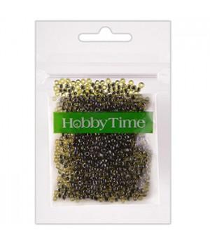 Бисер Hobby Time круглый люминесцентный 2мм 10гр №18 зеленый, пакет, европодвес