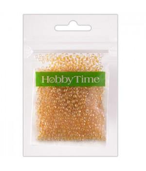 Бисер Hobby Time круглый люминесцентный 2мм 10гр №2 желтый, пакет, европодвес
