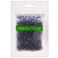 Бисер Hobby Time круглый люминесцентный 2мм 10гр №20 синий, пакет, европодвес