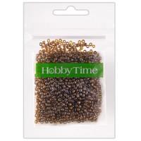 Бисер Hobby Time круглый люминесцентный 2мм 10гр №22 янтарный, пакет, европодвес