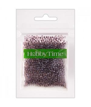 Бисер Hobby Time круглый люминесцентный 2мм 10гр №23 лиловый, пакет, европодвес