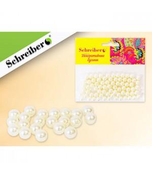 Бусины Schreiber перламутровые d= 8мм 20гр