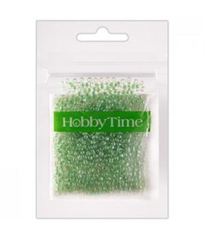 Бисер Hobby Time круглый люминесцентный 2мм 10гр №5 мятный, пакет, европодвес