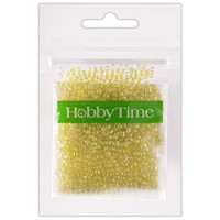 Бисер Hobby Time круглый люминесцентный 2мм 10гр №10 светло-желтый, пакет, европодвес