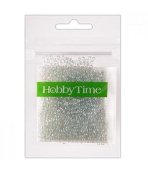 Бисер Hobby Time круглый люминесцентный 2мм 10гр №9 небесно-голубой, пакет, европодвес