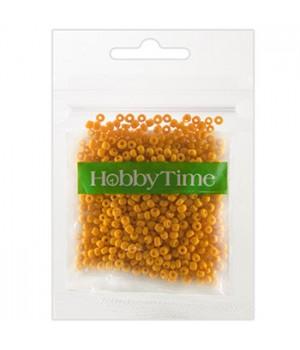 Бисер Hobby Time круглый матовый непрозрачный 2мм 10гр №10 оранжевый, пакет, европодвес