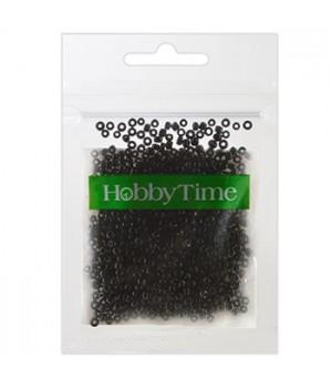 Бисер Hobby Time круглый матовый непрозрачный 2мм 10гр №11 черный, пакет, европодвес