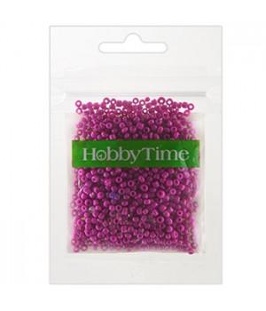 Бисер Hobby Time круглый матовый непрозрачный 2мм 10гр №14 розовый, пакет, европодвес
