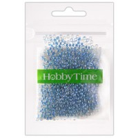 Бисер Hobby Time круглый люминесцентный 2мм 10гр №11 ультрамарин, пакет, европодвес
