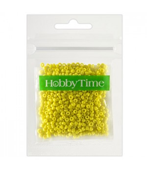Бисер Hobby Time круглый матовый непрозрачный 2мм 10гр №2 желтый, пакет, европодвес