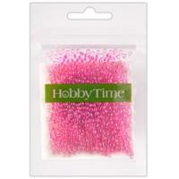 Бисер Hobby Time круглый люминесцентный 2мм 10гр №12 ярко-розовый, пакет, европодвес