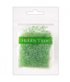 Бисер Hobby Time круглый люминесцентный 2мм 10гр №13 светло-зеленый, пакет, европодвес