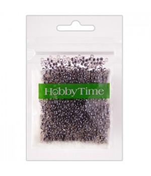 Бисер Hobby Time круглый люминесцентный 2мм 10гр №16 антрацитовый, пакет, европодвес