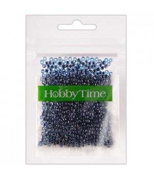 Бисер Hobby Time круглый люминесцентный 2мм 10гр №17 морская волна, пакет, европодвес