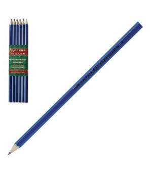 Карандаш НВ дерев заточ Русский карандаш шестигран СК115/ТМ