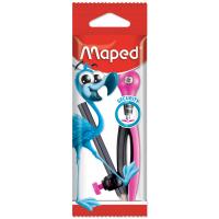 ESSENTIALS Циркуль пластиковый с универсальным держателем, карандаш в комплекте, с безопасной иглой