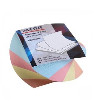 Бумага для заметок 8*8*4 спир 4цв deVENTE 2012639 скл