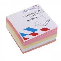 Бумага для заметок 8*8*3,5 куб 4цв Attomex 2012642/У59655 не скл