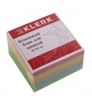 Бумага для заметок 8*8*5 куб 5цв 183605 КЛЕРК не скл