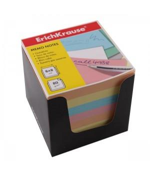 Бумага для заметок 8*8*8 куб 4цв ЕК 36995 черн карт подст