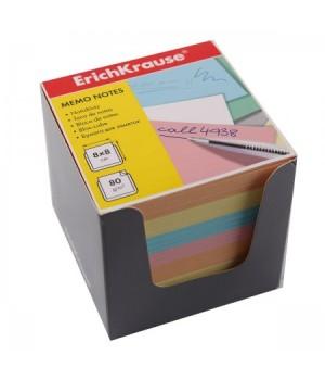 Бумага для заметок 8*8*8 куб 4цв ЕК 36996 сер карт подст