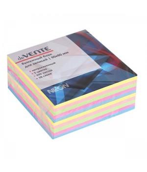 Бумага для заметок 9*9*4 куб 5цв неон 400л 10 слоев deVENTE 2012703 не скл