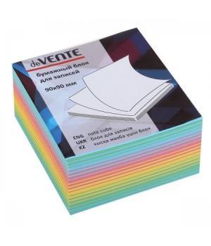 Бумага для заметок 9*9*5 куб цв deVENTE Радужный микс 2012630/У59642 интенсив не скл