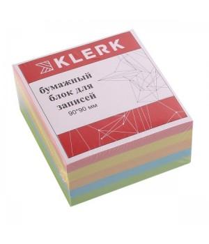Бумага для заметок 9*9*5 куб 5цв 183606 КЛЕРК